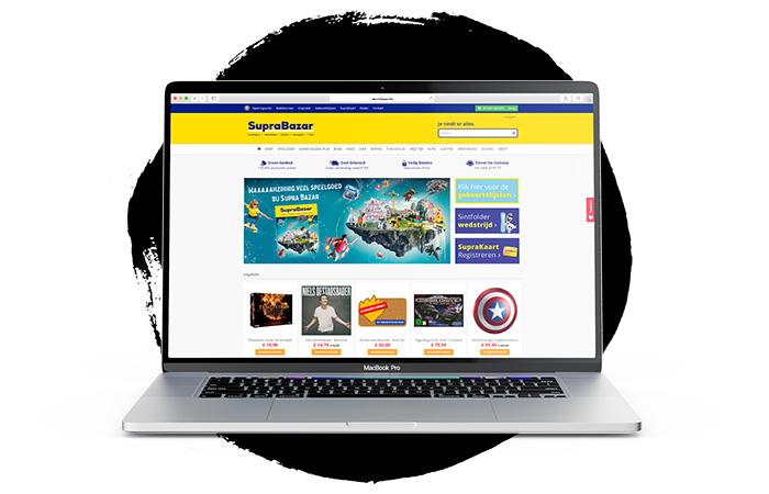 Supra Bazar website